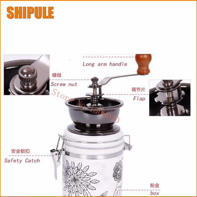 brand new antique Mini Manual Coffee Mill Stand Bowl Antique Hand Coffee Bean Grinder mini vintage coffee grinder hand coffee bean grinding machine manual roller crusher flour mill bowl antique high quality page 8