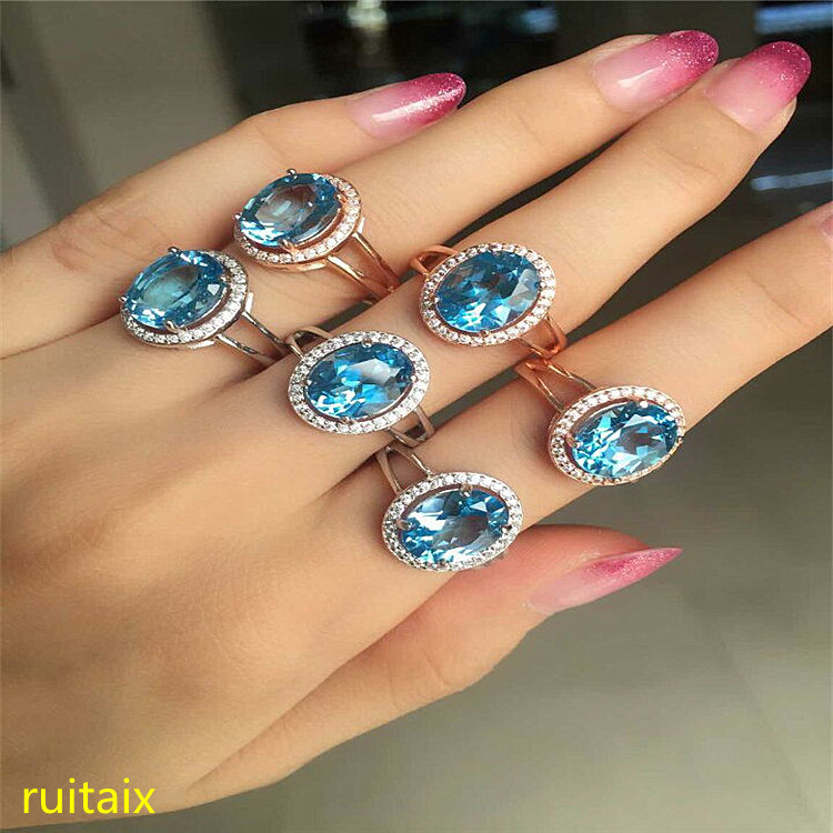 KJJEAXCMY fine jewelry 925 Pure silver inlaid with natural gemstone blue topaz ring jewelry gold and silver colorZCV kjjeaxcmy fine jewelry 925 pure silver with natural blue topaz bracelet jewelry gold and silver color