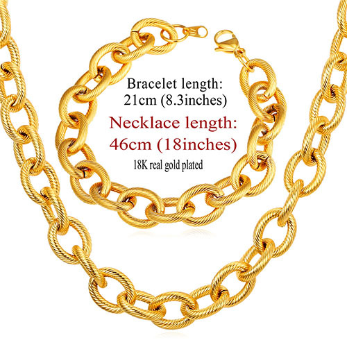 Men Necklace Bracelet Set...