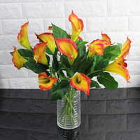 Yaran 2017 New 2 Heads Calla Artificial Flowers Wedding Bouquet Flowers Simulation Plants Home Decoration Accessories 10PCS
