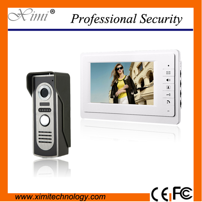 Hot sale new arrival wired video door phone outdoor camera with 420TVL IR night version 7 TFT color screen monitor 7 inch video doorbell tft lcd hd screen wired video doorphone for villa one monitor with one metal outdoor unit night vision