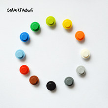 Smartable круглая пластина 1x1 с твердым стержнем для освещения, строительные блоки, детали MOC, Pixel Art, кирпичные игрушки, совместимы с 6141, 910 шт./лот