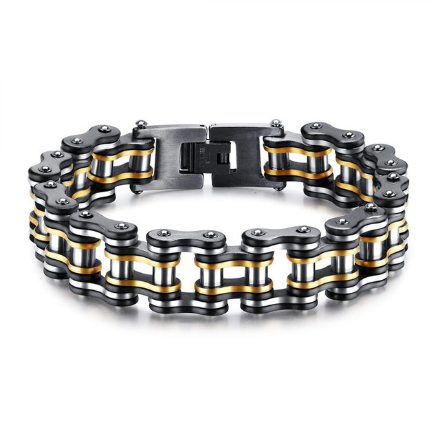 V.YA Punk Stainless Steel Bracelets Men Biker Bicycle Motorcycle Chain Man Bracelets & Bangles 2018 Fashion Jewelry Charm Gifts