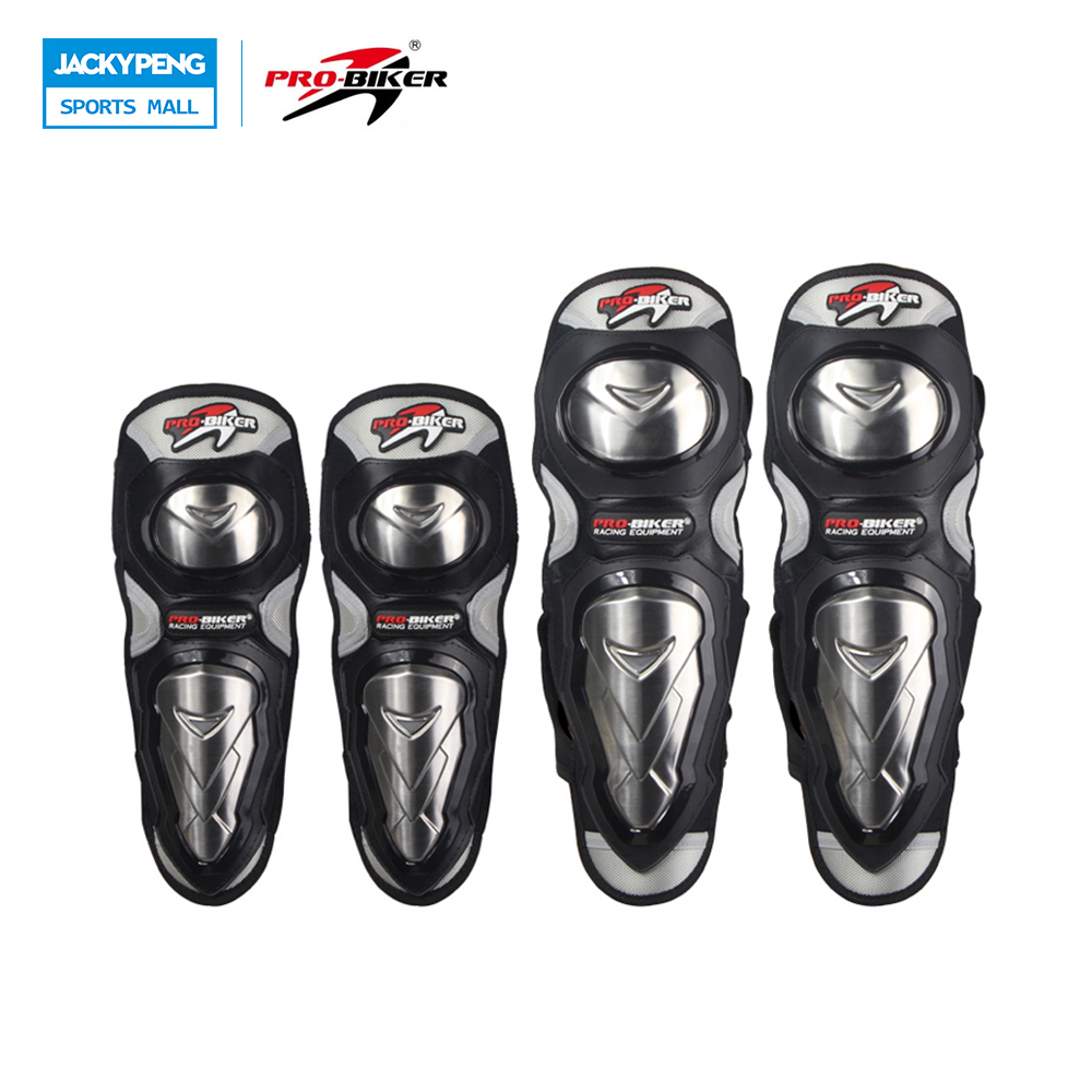 PRO-BIKER Motorcycle Riding Knee Pads with Stainless Steel Shell Protective HX-P19 Motorcycle Kneepad  Motocross Equipment pro designed mini ramp knee xl knee pads
