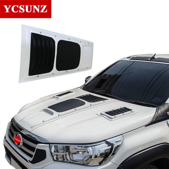 Fj Cruiser Sticker >> 2016 2018 Bonnet Scoop For Toyota Hilux Revo Raptor White Bonnet Hood For Toyota Hilux 2016 2017 ...
