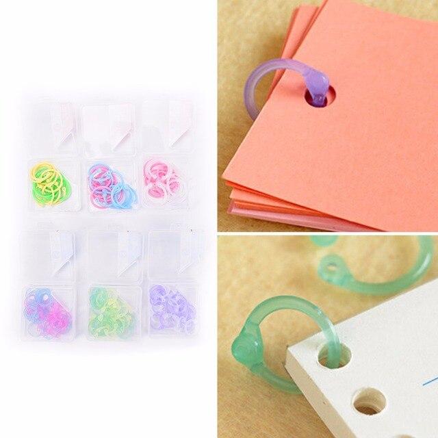 Favoloso 30 Pz/scatola Raccoglitore Ad Anelli per Notebook Sciolto Foglia  OJ39