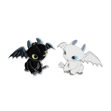 How to train your dragon night fury Zinc Alloy tie Pin backpack clothes brooches for men women hat decoration badges medal E0189