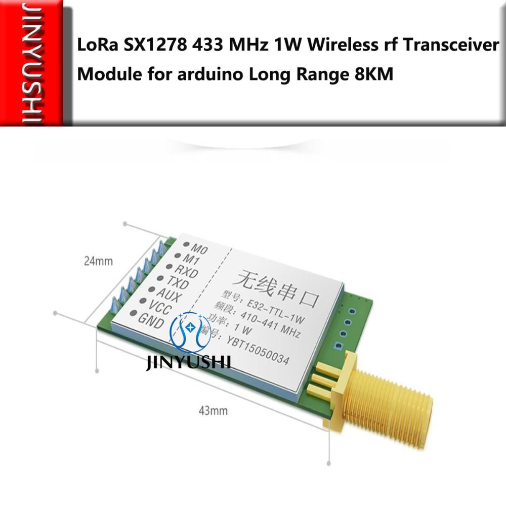LoRa SX1278 SX1276 433MHz Rf Module Transmitter Receiver 8000m E32-TTL-1W UART Long Range 433 MHz 1W Wireless Rf Transceiver