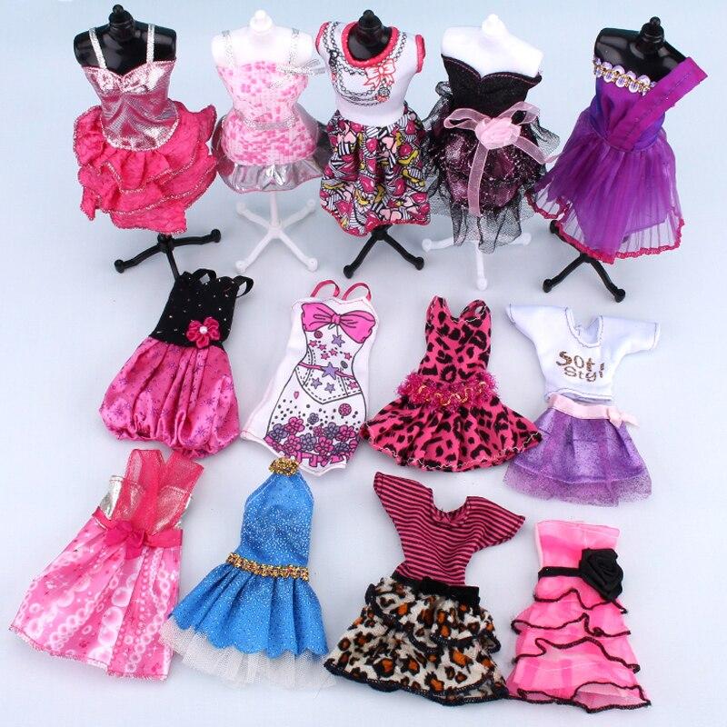 10 dress up dolls clothes set fashion
