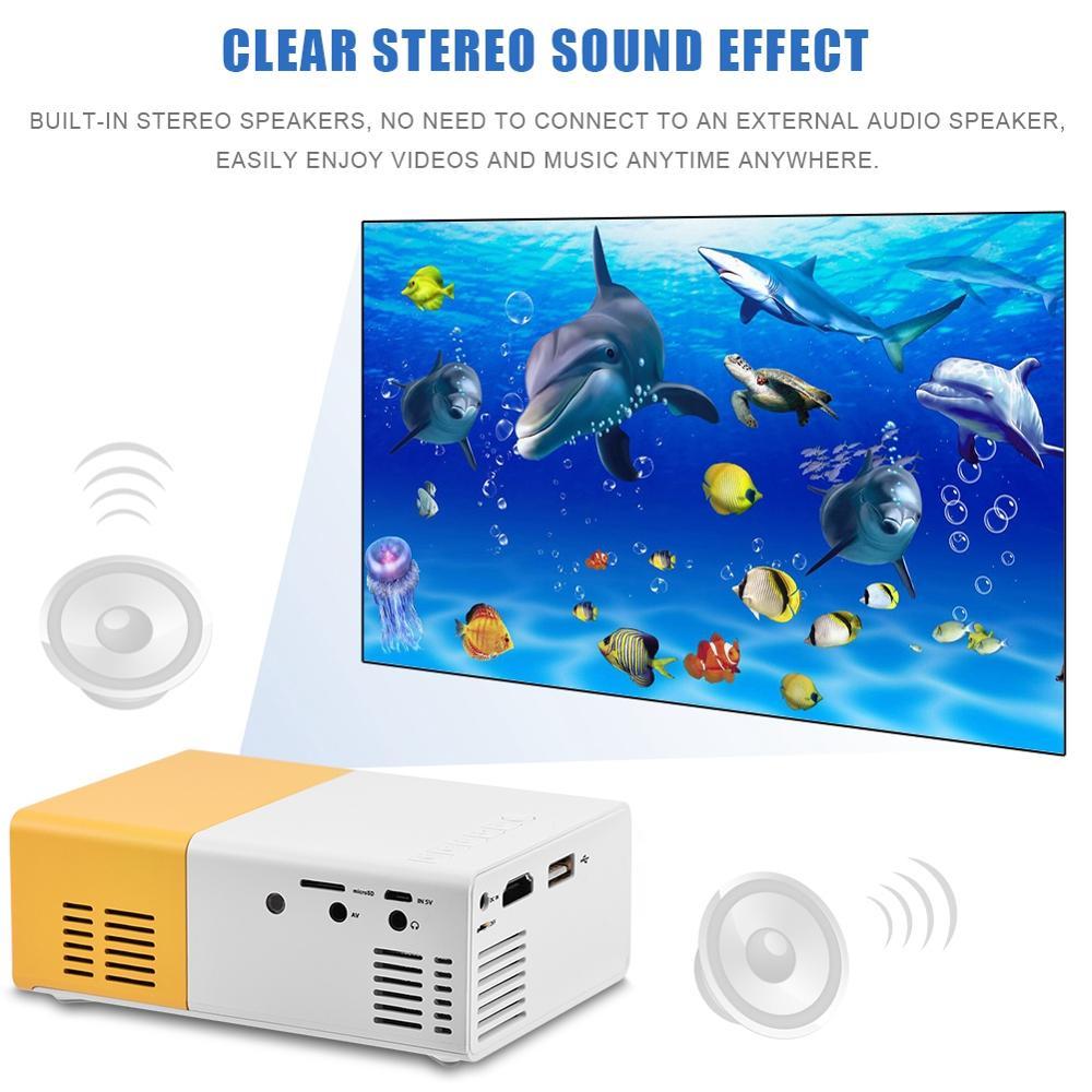 LED Video Projector mini projectors Support 1080P Mini