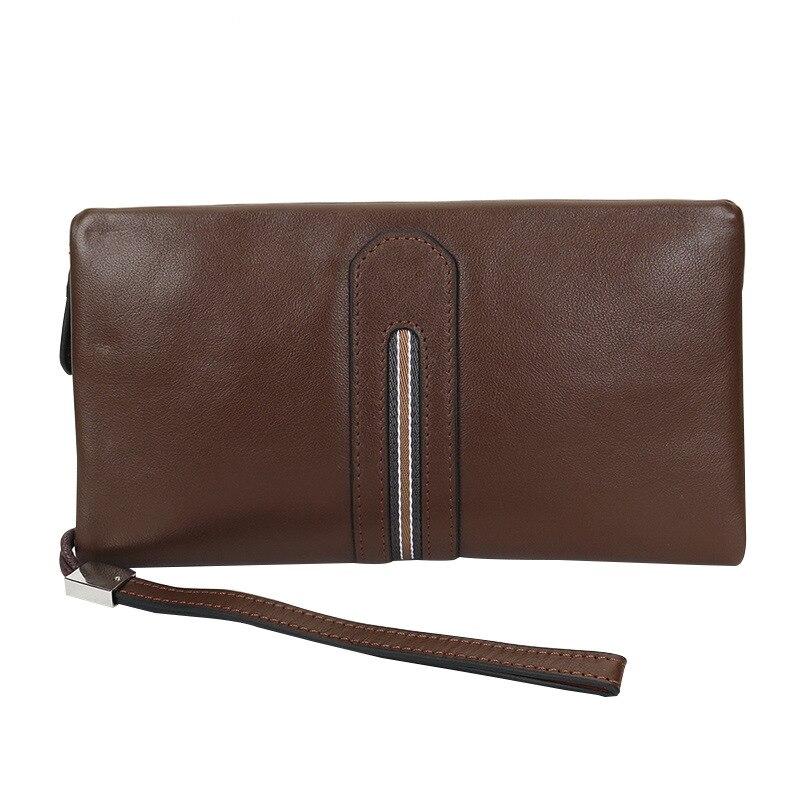 Leather Wallet Long Purse Wallet Luxury Male Genuine Leather Wallet Men Zipper Purse Male Wallet Leather Purse Men MonciaLA wallet modalu wallet
