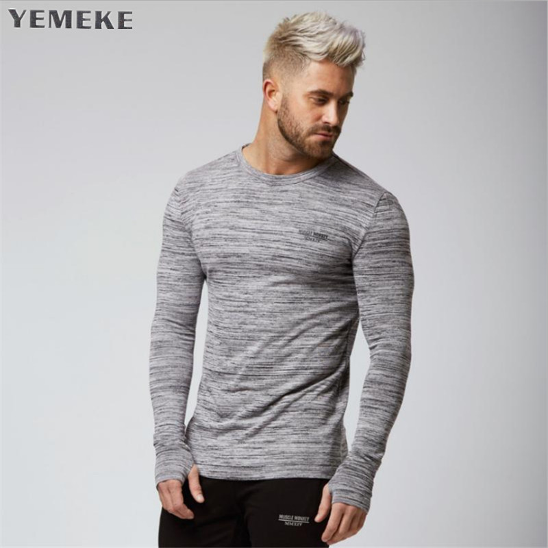 Brand gyms clothing fitness t shirt men fashion extend summer short sleeve t-shirt cotton bodybuilding muscle guys Bran