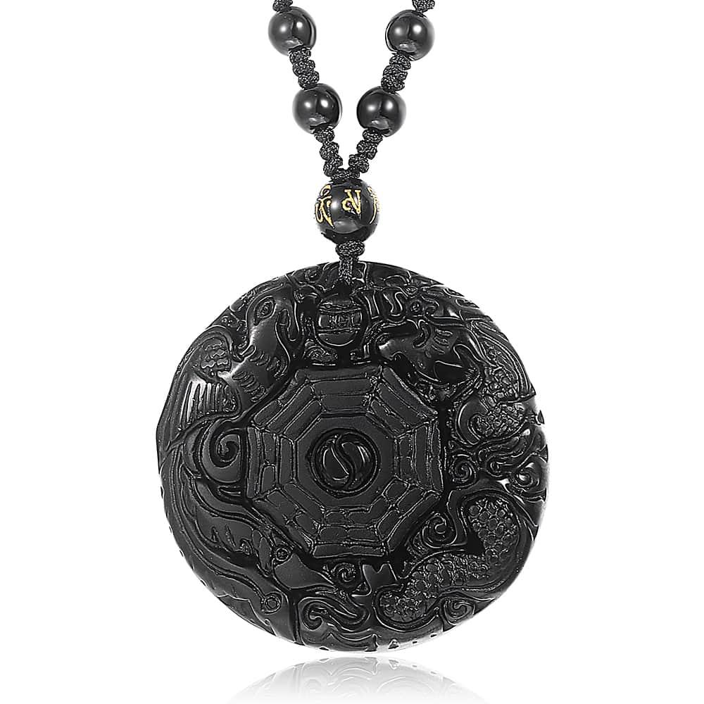 Men's Black Stone Boho Style Pendant