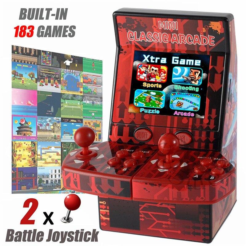 Mini portátil máquina Arcade clásico Retro consola de videojuegos portátil incorporado 183 juegos Arcade