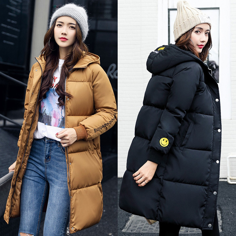 Size M-XXL New Women's Casual Loose Hooded Long Thick Warm Snow Cotton Jacket Parkas Coat For Women Winter,4 Colors,w807 new plus size thick warm loose cotton jacket women long pleated zipper white duck cotton coat knit hooded warm parkas 3xl h3091