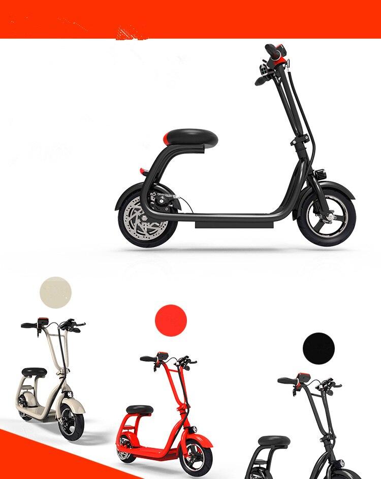 Mini 2 roues Smart Scooter électrique planche à roulettes adulte vélo pliable 10 pouces chargeur de téléphone portable
