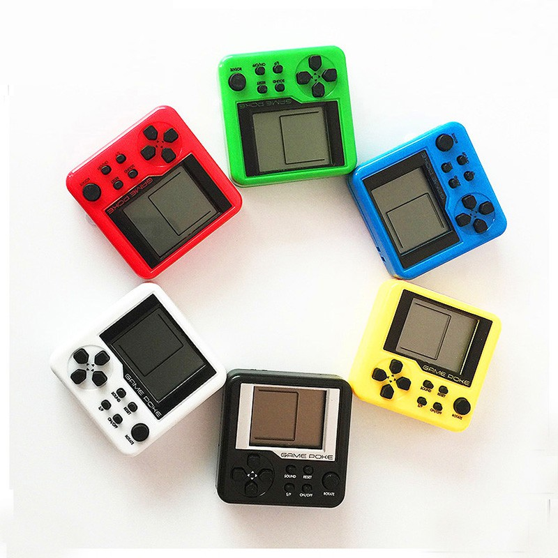 Game Consoles Retro Mini Puzzle Children Russian Box Game Console Portable LCD Players Educational Electronic Toys Random Color