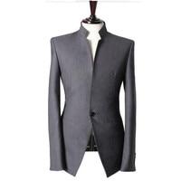 Men's blazer men's Chinese style collar fashion slim jacket wedding groom groomsmen dress men's business casual formal blazer