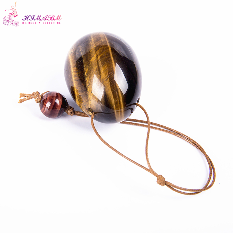 HIMABM 1 Pcs tiger eye egg for kegel exercise chakra massage pelvic muscles vaginal tightening yoni egg ben wa ball jade egg yoni egg massager crystal roller wand ben wa balls tiger eye pleasure jade egg for women kegel exercise vaginal muscles tighten