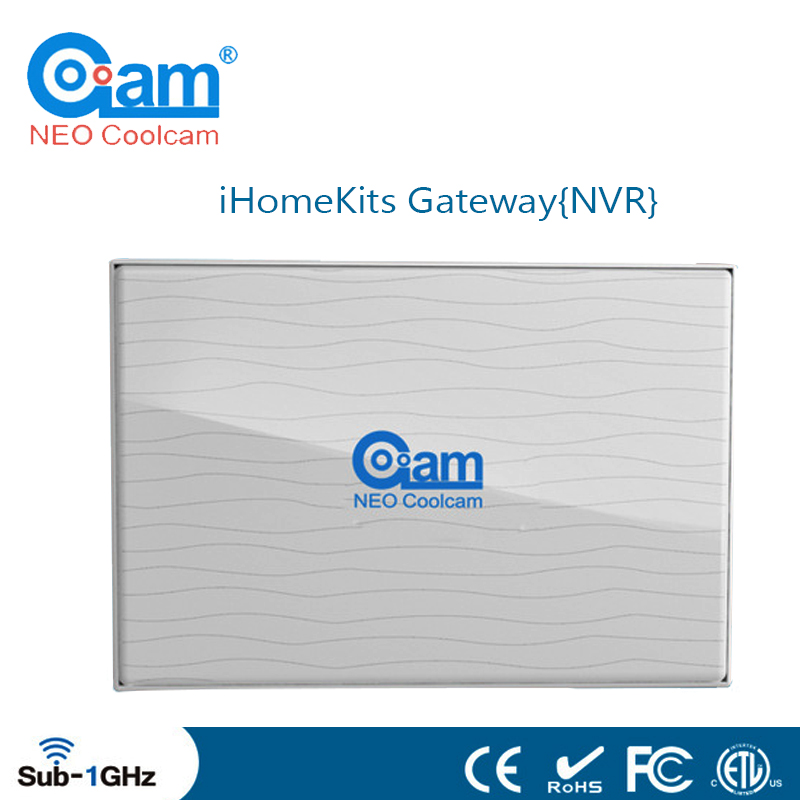 NEO Coolcam IHome Kits NAS-AC01DT Wireless Alarm System Gateway(HD 8CH NVR) For Home Security Certification CE&ROHS