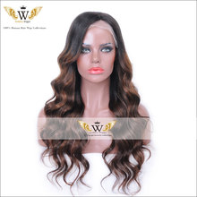 6A 150Density Glueless Front Lace Ombre Wig Human Hair Brazilian Full Lace Human Hair Wigs  Black Women Omber Lace Wigs