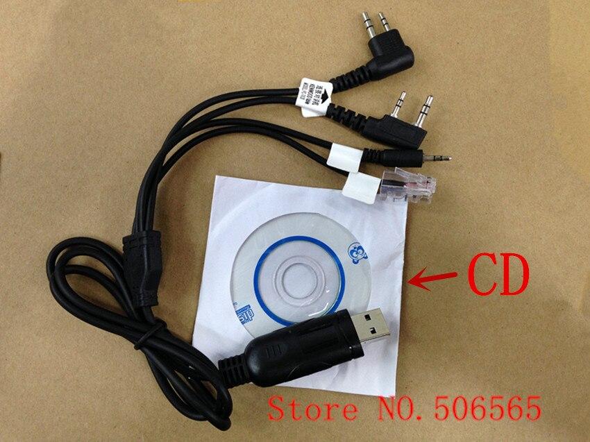 Honghuismart Quatre dans Un deux voies à la radio/voiture radios USB programme câble avec CD pour KENWOOD, BAOFENG, MOTOROLA, HYT etc
