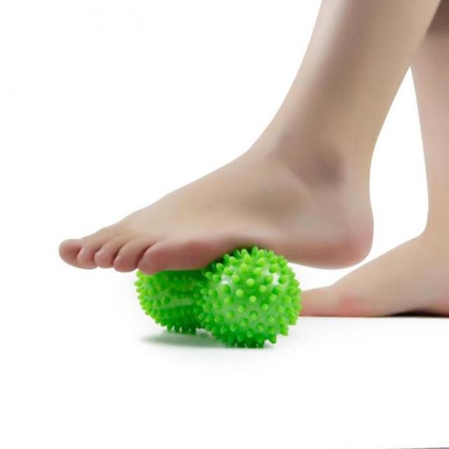 1PC Peanut Shape Massage Yoga Fitness Ball Relieve Body Stress PVC Foot Spiky Muscle Massager Ball Body Hand Foot Massager 3