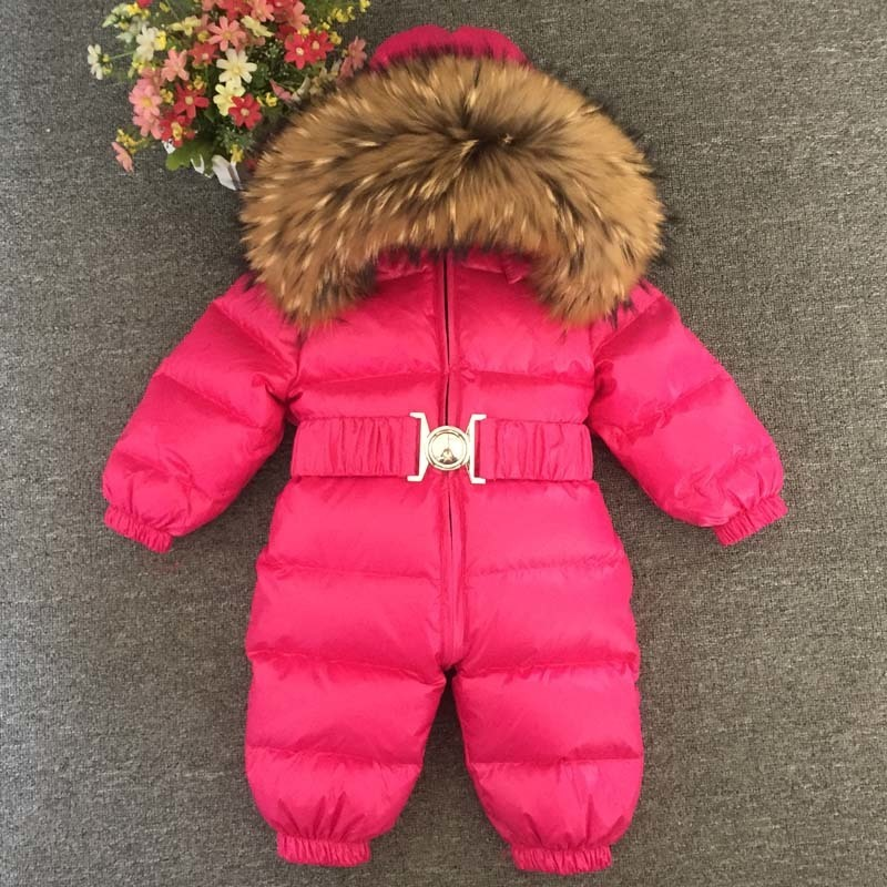 Newborn Romper Winter Baby Jumpsuit Infant Snow Wear Kids Snowsuit Overcoat Duck Down Cotton Children Clothing