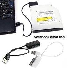 Nouveau câble Sata pour ordinateur portable adaptateur prise SATA vers USB 6 broches + 7Pin SATA vers USB 2.0 câble cd rom adaptateur 13 broches
