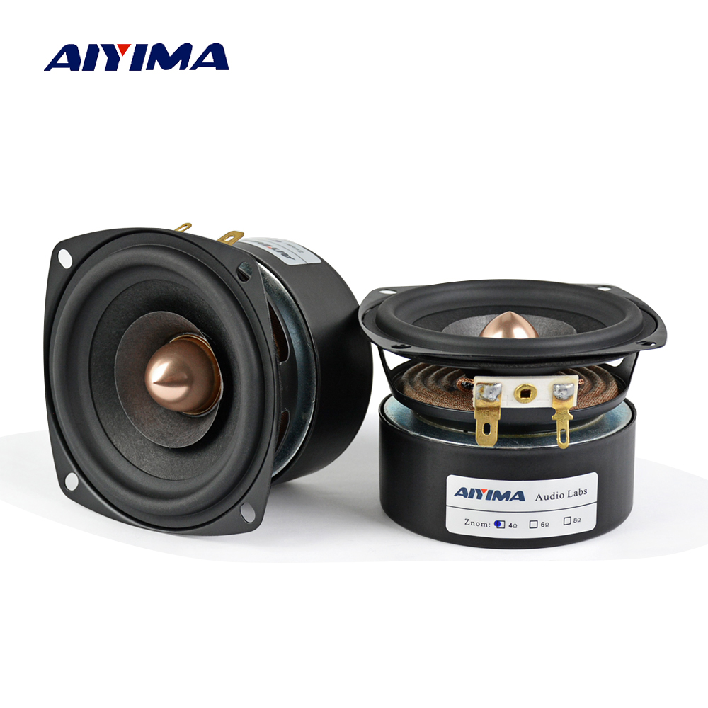 AIYIMA 2Pcs 3 Inch Audio Speaker 4Ohm 8Ohm 15W Full Range Speaker HIFI Treble Mediant Bass