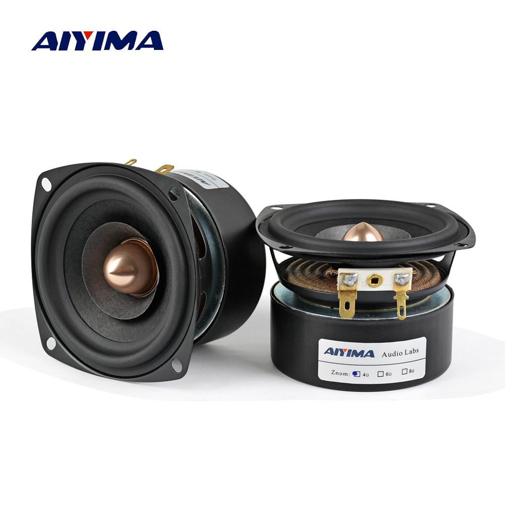 AIYIMA 2 pièces 3 pouces haut-parleur 4Ohm 8Ohm 15 W haut-parleur gamme complète HIFI aigus médiant haut-parleur basse bricolage