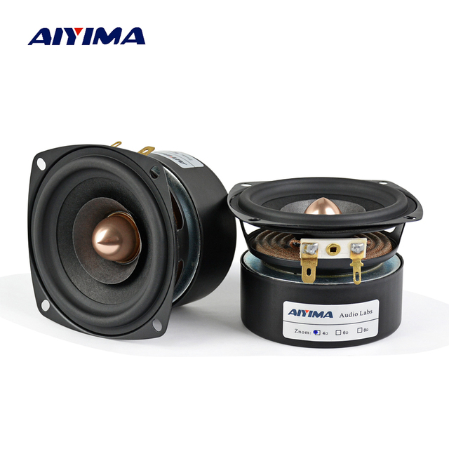 AIYIMA 2PC 3Inch Audio Speaker 4Ohm 8Ohm 15W Full Range Speaker HIFI Treble Mediant Bass Loudspeaker DIY