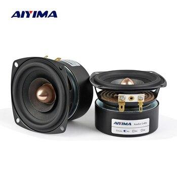 AIYIMA 2Pcs 3 Inch Audio Speaker 4Ohm 8Ohm 15W Full Range Speaker HIFI Treble Mediant Bass Loudspeaker DIY 2pcs new aucharm 8f 1 8inch full frequency speaker driver unit casting aluminum frame wool leather surround 8ohm 20w d210mm