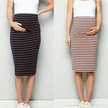 02d822501 Las mujeres de confort de la barriga de falda las mujeres embarazadas corsé falda  maternidad ropa