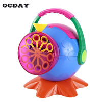 OCDAY Automatic Big Soap Machine Bubbles Maker Bubble Gun Burbujas Blower Toy for Party Baby Kids Children Outdoor Toys Gift