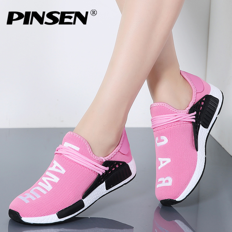 293fd95d5 PINSEN 2018 Sneakers Women Human Race Unisex Spring Woman Casual Shoes  Breathable Flats Shoes Trainers Shoes chaussure homme