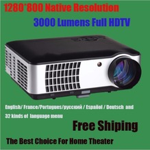3000 lumens LED Projector Full HD 3d Home Theater LCD Video Proyector Projektor TV Projetor