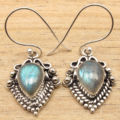 Ethnic Earrings ! Original stud LABRADORITE Silver Plated FACTORY DIRECT Jewelry