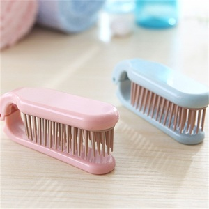 Image 2 - 1 PCS Hot Sale Folding Portable Travel Portable Plastic Soft Tooth Combs Hairdressing Comb Long Hair Anti static Massage
