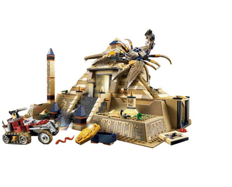 822Pcs Egypt Pharaoh Series The Scorpion Pyramid Building Blocks Bricks Toys Compatible With 7327 Lepin Kids Toys Gifs кроссовки health 822