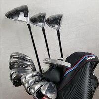 12 шт. Гольф полный набор клюшек для гольфа драйвер + проход древесина Утюги клюшки графит вал с головкой крышка без сумка