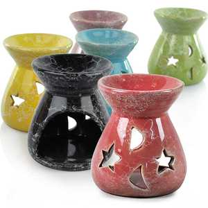 Candle-Holders Oil-Burner Fragrance Tealight Simmering-Granule Ceramic DC112 Oils