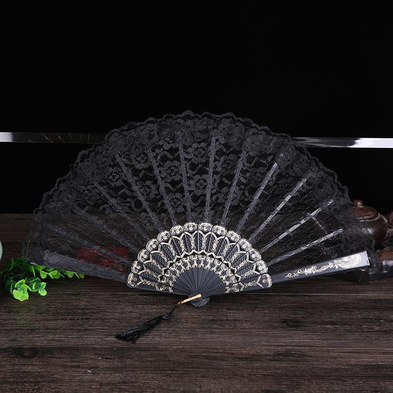 Damen Klappspitze Hand Fan Großhandel Personalisierte Fans der Alten - Wohnkultur - Foto 6