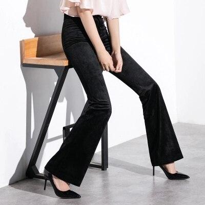 Qualité Femme Haute Mode En 2 Élastique Velours 2018 Larges Pantalon Et Jambes 1 Décontracté À Printemps Taille Automne vwEpqU