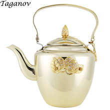 1.8L Teaware Thickened stainless steel Teapots with filter net teapot for Restaurant household hotel making tea kettle pot gift