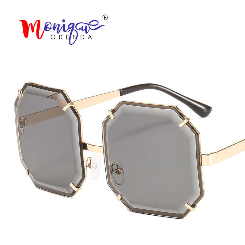 41092c590a18 Oversized Square Sunglasses Women Men Fashion Octagon Ocean Lens Sun Glasses  for Women Brand 2019 Shades