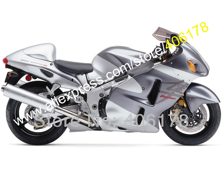 Hot Sales,Customized Silver Fairing For Suzuki 99 00 01 02 03 04 05 06 07 GSXR1300 Hayabusa Bodywork Kit (Injection molding)