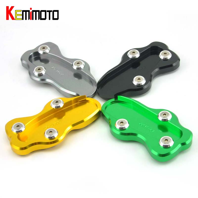 KEMiMOTO Motorcycle Part Kickstand Side Stand Extension Plate Pad For Kawasaki VN900 CLASSIC 2006 2007 2008 2009 2010-2015 aftermarket free shipping motorcycle parts eliminator tidy tail for 2006 2007 2008 fz6 fazer 2007 2008b lack