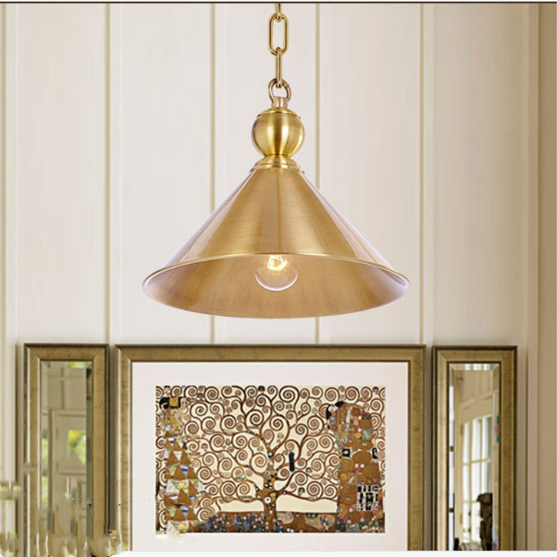 Gold Europe Art Deco Noble Fashion Copper Pendant Lamp Cafe Bar Restaurant Bedroom Parlor Study Decoration Lamp Free Shipping цена 2017
