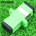 KELUSHI Green 50pcs SC fiber optic adapterSC flange couplerSC/AP C adaptor fiber coupler for digital communications